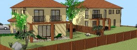3D model of two house subdivision