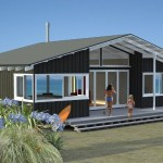 Front view of proposed new beach house