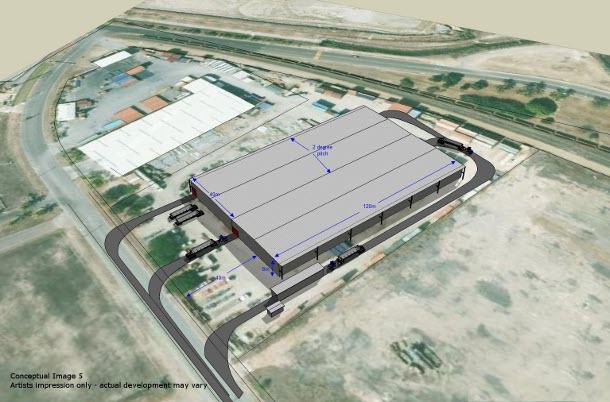 bulk storage facility 3D model
