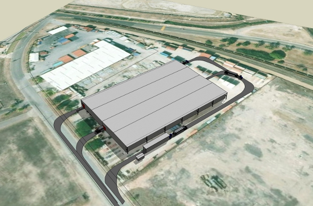 3D model of bulk storage facility