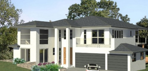 3D model of 4 bedroom home