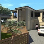 Photorealistic rendering of a new house